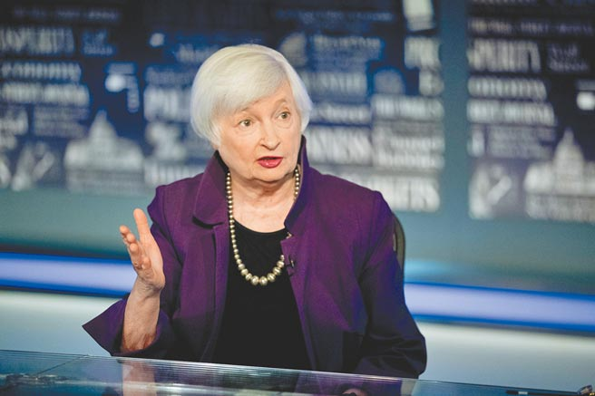 葉倫成為美國首位女財政部長。(美聯社)
