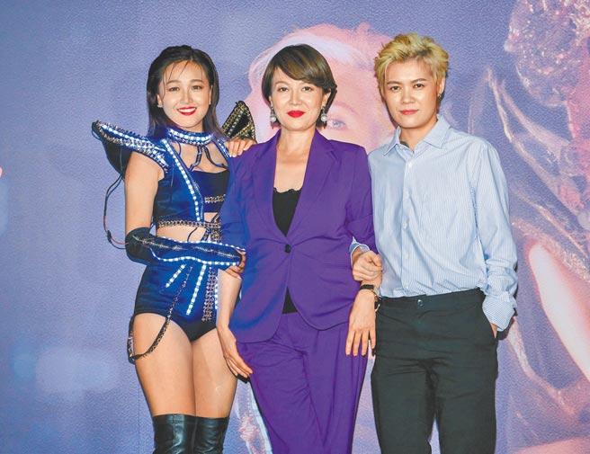 《迷走廣州》演員張雅玲(左起)、苗可麗和葉寶雯昨出席首映會。(吳松翰攝)