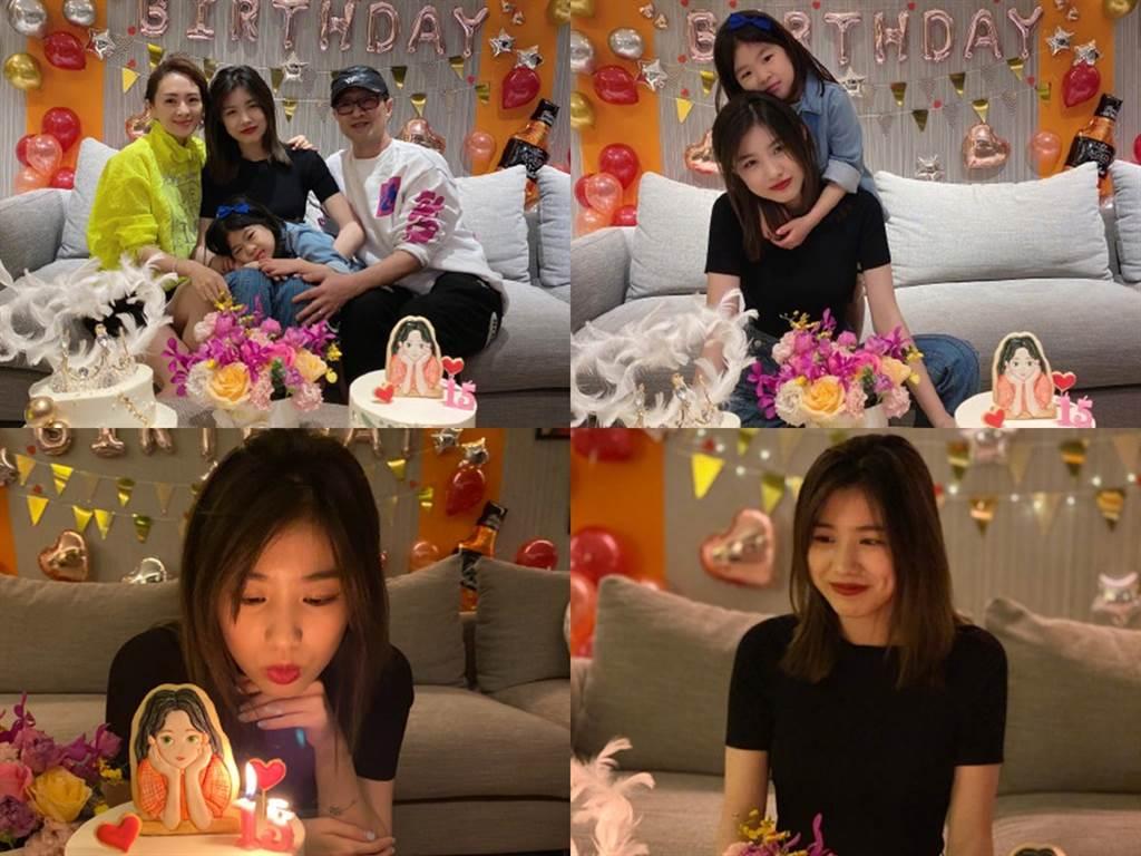 章子怡一家人和乐融融,两个女儿的互动掀讨论。(图/微博@章子怡)