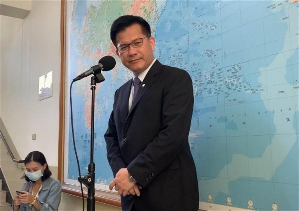 交通部長林佳龍。(潘千詩攝)