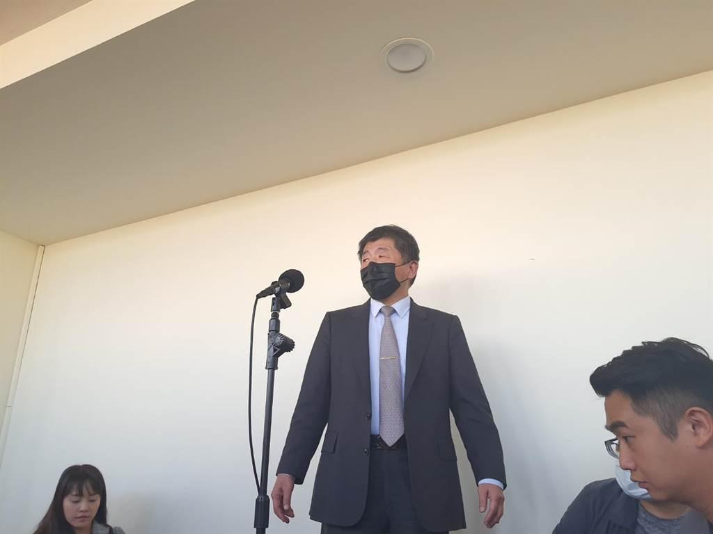 衛福部長陳時中26日宣示,將對海外國人停付保制度做改革。(陳人齊攝)
