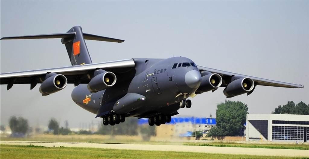 解放軍運-20大型運輸機轉場起飛的資料照。(中國軍網)