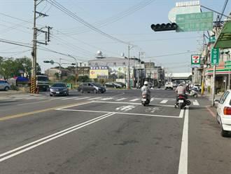 頭份市中正路 撤除機車二段式左轉