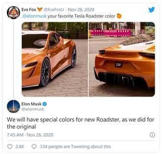 特斯拉 Roadster 2 電動超跑將擁有多種特殊車色,就如同一代那樣多色可選