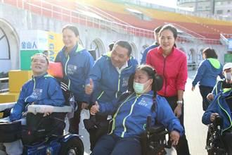 新北身心障礙代表隊授旗出發  侯友宜勉勵享受比賽