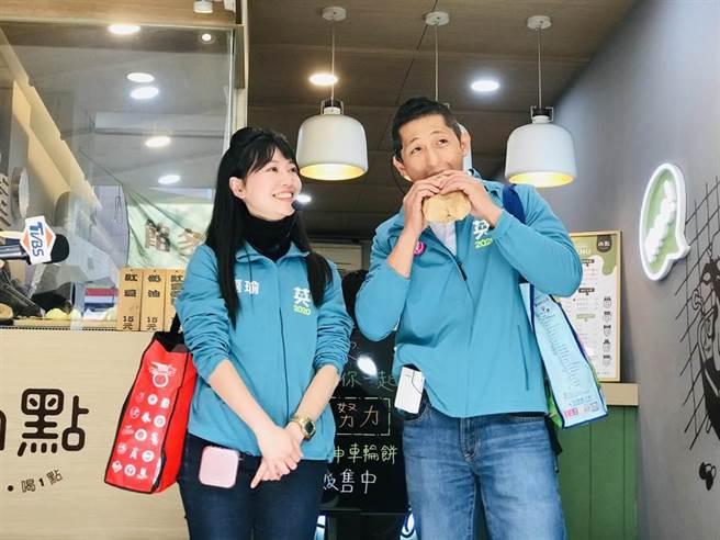 民進黨立委高嘉瑜(左)、吳怡農(右)。(張穎齊攝)