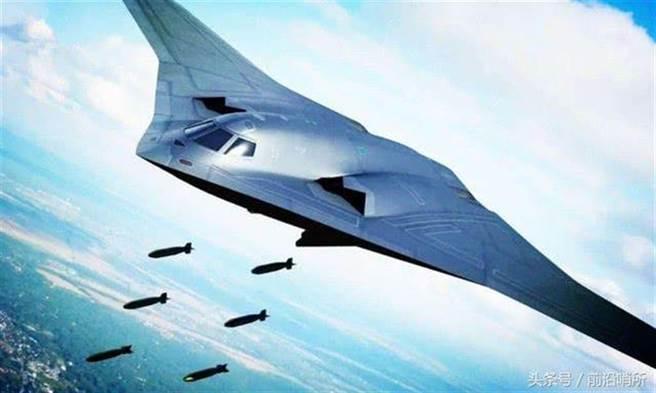 解放軍下一代隱形戰略轟炸機轟-20的示意圖。(網路)