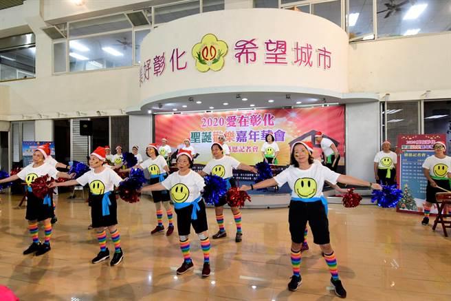 第14屆的「愛在彰化,耶誕歡樂嘉年華」,今年26鄉鎮教會都盛大參與。(吳敏菁攝)