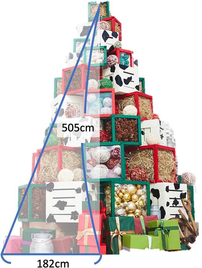 「埔里DNA聖誕樹」高5公尺、寬1.8公尺,樹體以埔里產業為發想,作為此次嘉年華最吸睛的精神堡壘。(埔里鎮公所提供/黃立杰南投傳真)