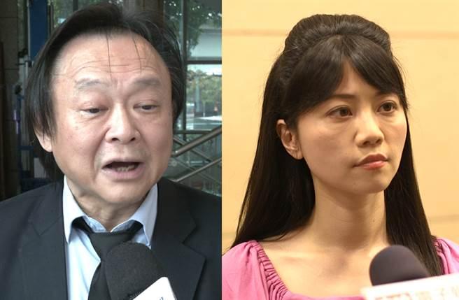 台北市議員王世堅(左)、民進黨立委高嘉瑜(右)。(圖/報系資料照)