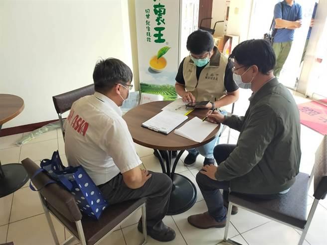 台南市勞工局26日派員至亞洲航空了解勞資糾紛詳情。(台南市勞工局提供/劉秀芬台南傳真)