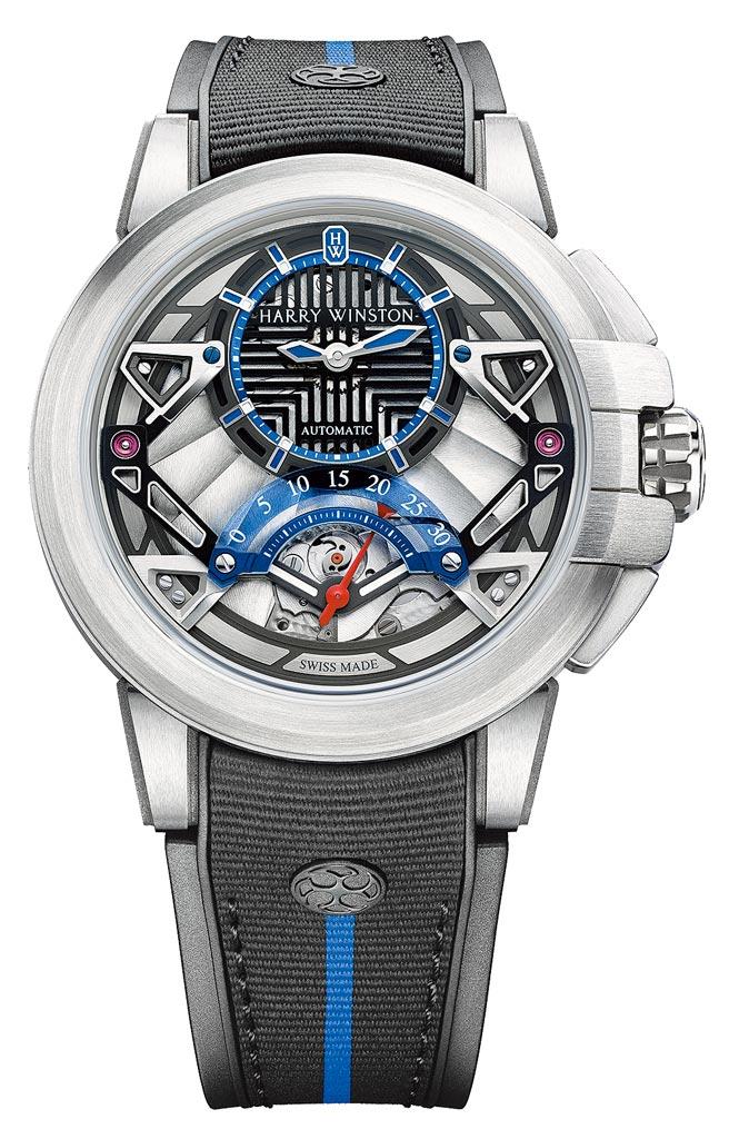 海瑞溫斯頓Project Z14腕表,約90萬元。(海瑞溫斯頓提供)