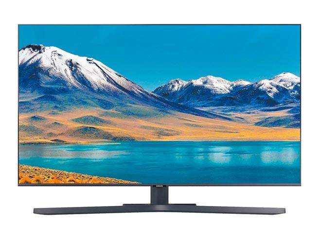 家樂福「SAMSUNG智慧連網UHD液晶電視50型UA50TU8000、HDMI×3組」,1萬9600元,全台限150台,紅利點數50倍送後,可省3266元。(家樂福提供)