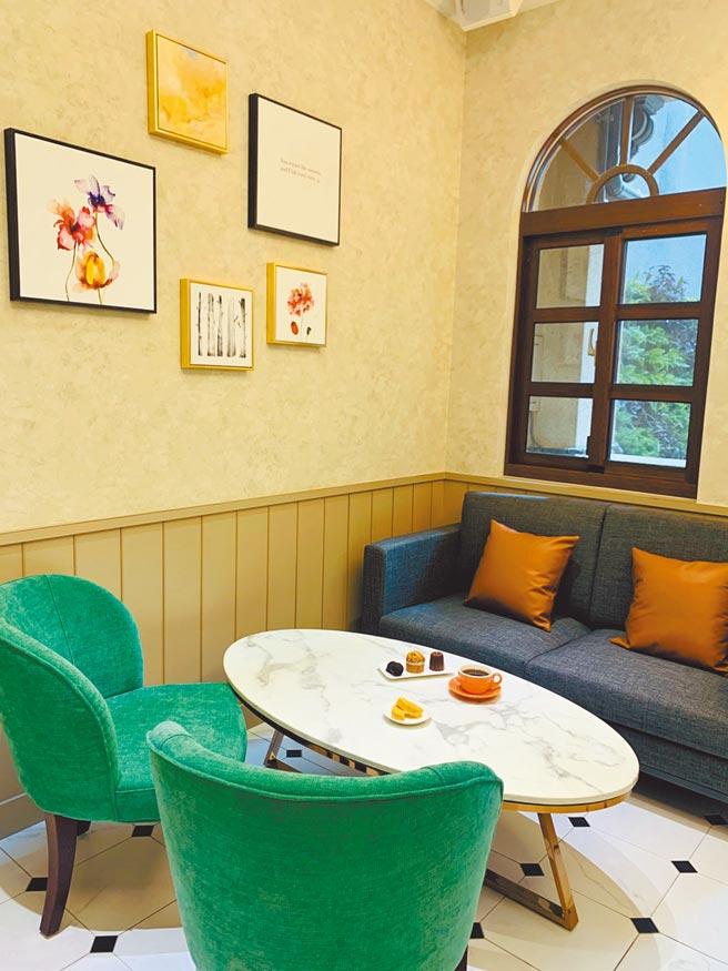 新東陽成立自有咖啡品牌「Serene Cafe」,提供門市內的複合型態。(吳奕萱攝)