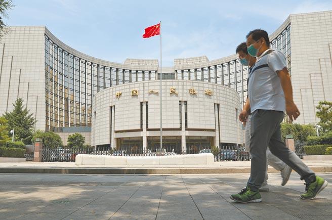 人民幣走升,中國人民銀行並未出手干預。圖為北京中國人民銀行。(中新社)
