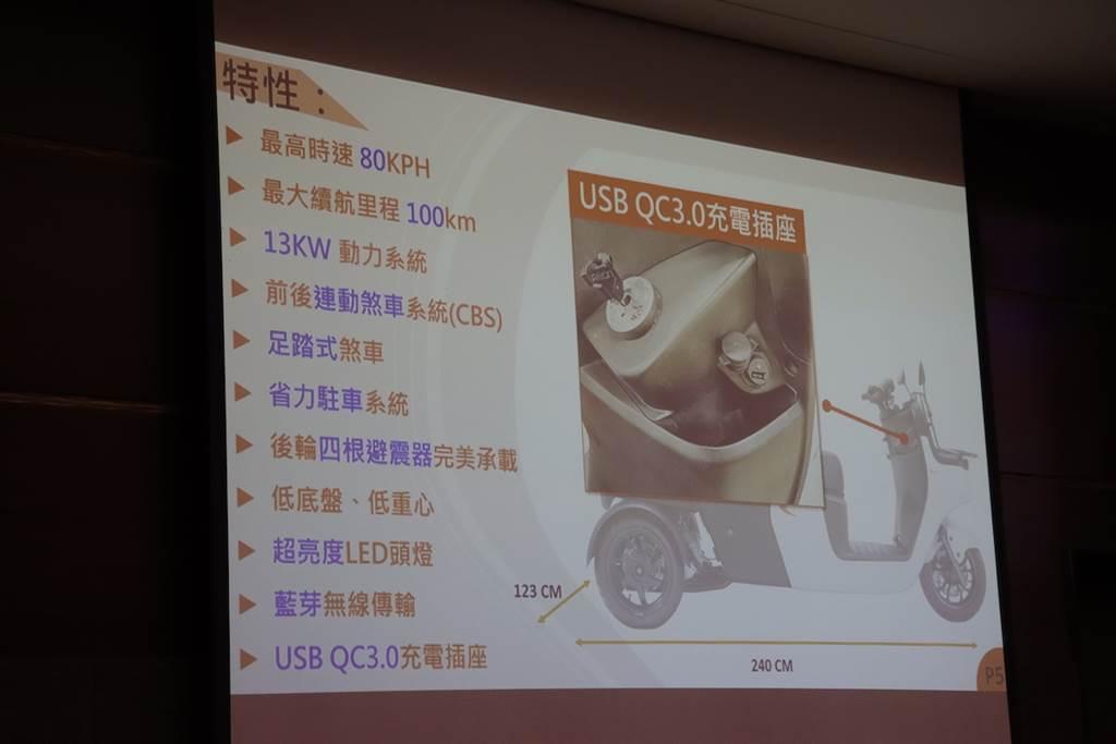 載重能力 200 公斤、貨物容量800 公升,威剛新品牌「威速登」推出全新三輪電動商用車