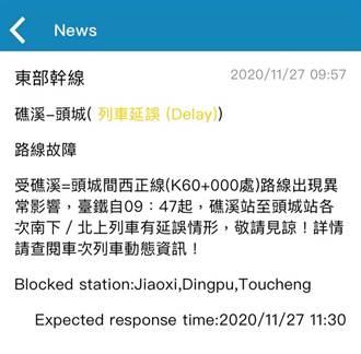 疑似聽到「斷軌聲」 台鐵宜蘭段一度封鎖半小時