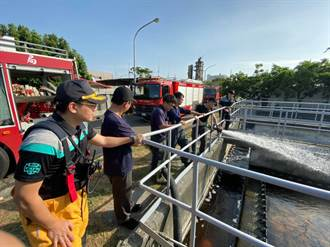水情吃緊 汙水廠乾淨水源成消防車「救命泉源」