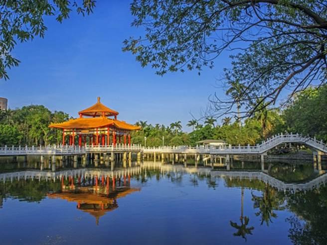 孤味電影中7成場景在台南拍攝,圖為台南公園。(台南市觀光旅遊局提供/曹婷婷台南傳真)