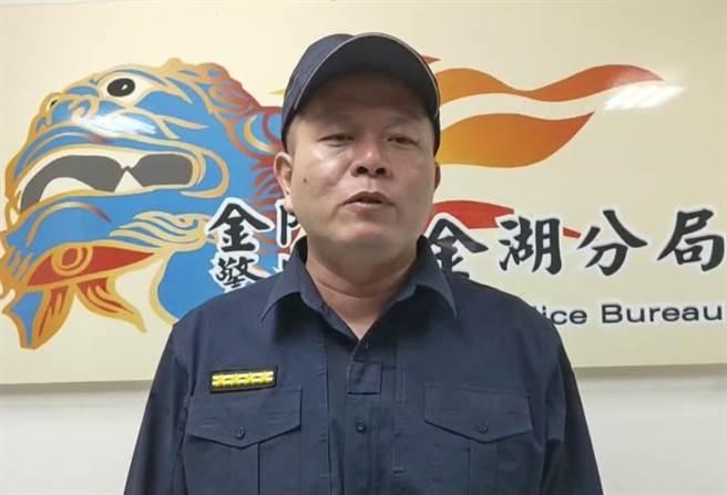 金湖分局長何明祥表示,網路世界虛虛實實,透過網路交友應提高警覺。(李金生攝)
