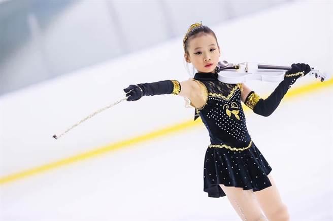 台北市中正盃滑冰賽28日於台北小巨蛋開始,年僅10歲的林榆芯備受期待。(大會提供)