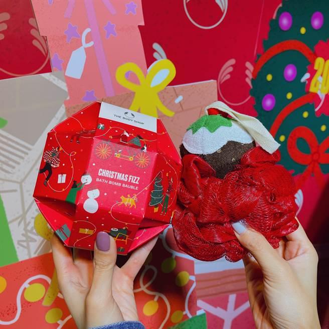 聖誕球浴糖禮盒。(邱映慈攝)
