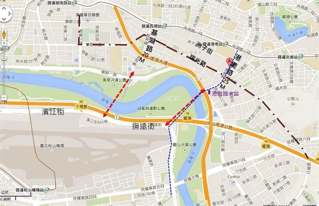 台北擬蓋首條「過河隧道」,解決港湖長年交通死結。(新工處提供/吳康瑋台北傳真)