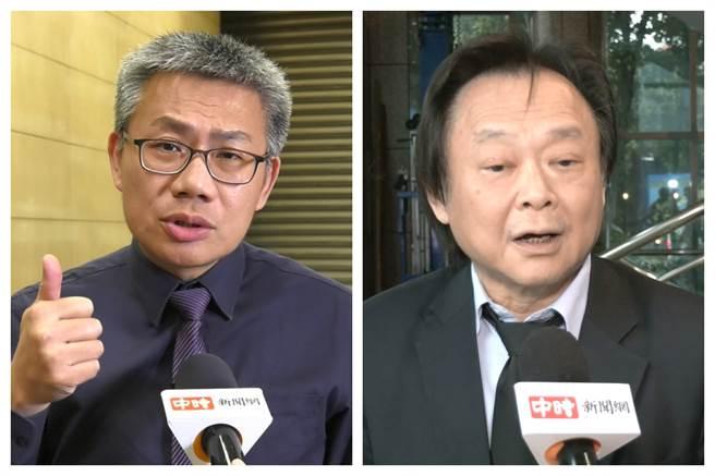 資深媒體人羅友志(左)與台北市議員王世堅。(本報資料照,編輯合圖)