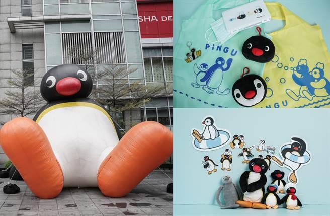 搶先登場的是店外6米高巨大Pingu充氣氣偶,以慵懶姿態坐在誠品信義店外,堪稱信義區聖誕節最搶眼的新地標!(圖/品牌提供)