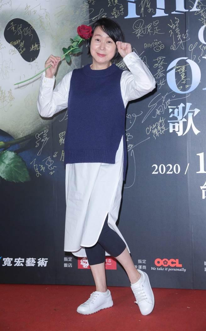 激瘦10公斤的王月,27日前往觀賞經典音樂劇《歌劇魅影》。(吳松翰攝)