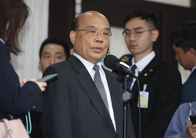 行政院長蘇貞昌。(資料照,姚志平攝)