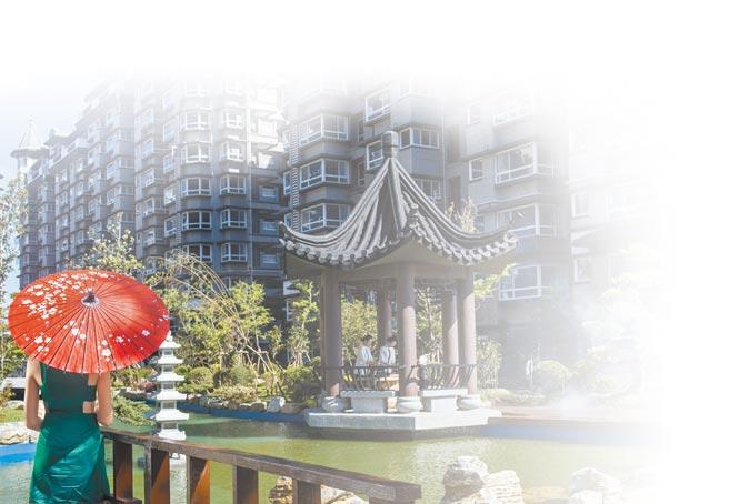 細緻的江南園林景觀深受不少購屋族喜愛。圖/湯泉國際開發提供