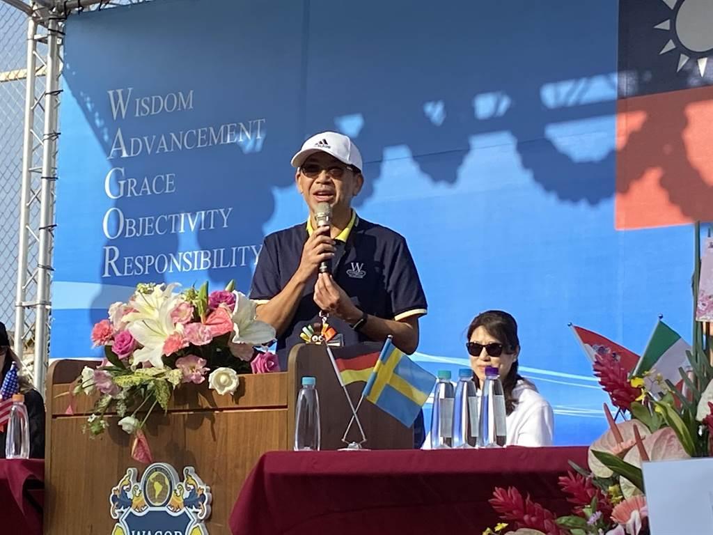 葳格小學校長過修齊強調,葳格國際學校全體系正大步向前邁進,無論是外語、科技、數理及全人教育成為台灣教育界的標竿。(盧金足攝)