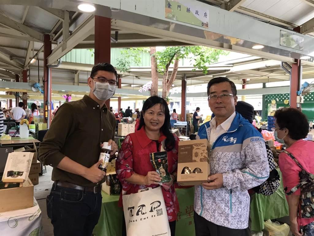 小金門香芋頭跨海前進台灣,今(28)日起連2天在台北希望廣場開賣。(金門縣政府提供)