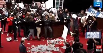 國民黨立院丟豬內臟襲擊 女戰神爆內幕:綠營以為丟水球