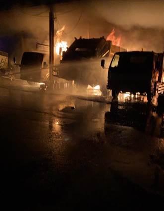 林內鄉清潔隊傳火警 資源回收車.挖土機.垃圾車付之一炬
