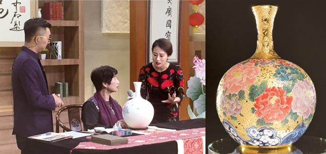 張美雲在「國寶苑」現場展演法華工藝。圖/先盈藝術提供