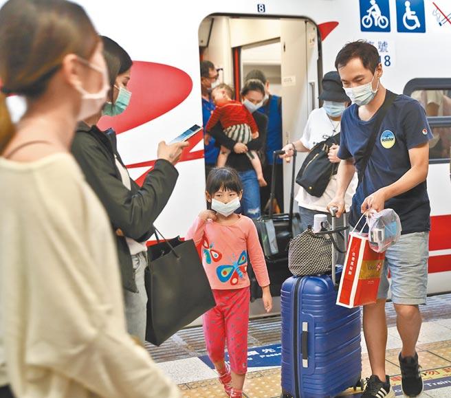 12月1日起旅客進入高鐵或台鐵車站,必須佩戴口罩。(本報資料照片)