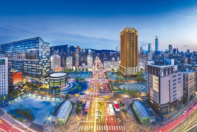 「信松廣場」以廣場建築地標獲得市場成功回響。(甲桂林提供)