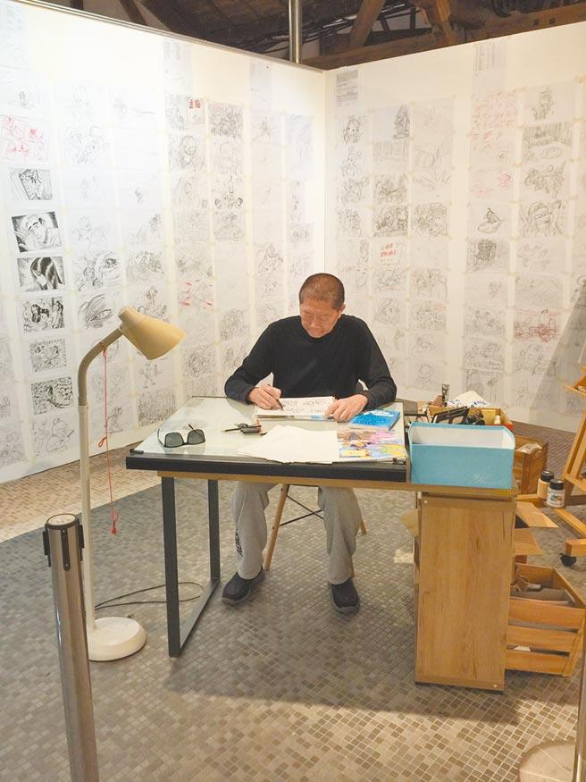 漫畫大師敖幼祥迎來《烏龍院》創作40周年,日前於花東漫畫季中展示40年來的創作歷程。(敖幼祥提供)