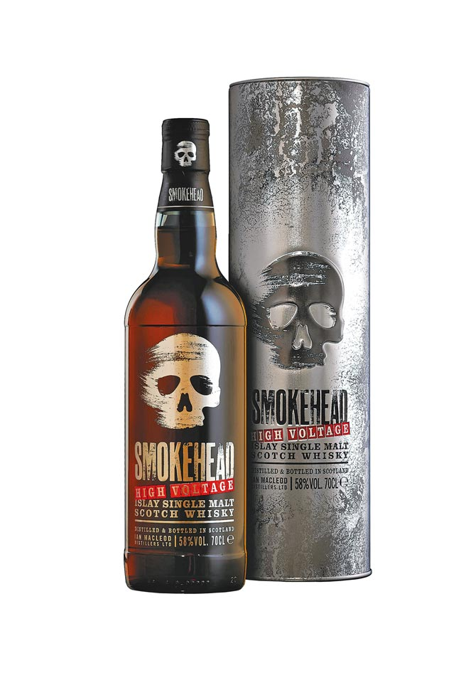 骷顱頭雪莉炸彈單一麥芽蘇格蘭威士忌48%,1980元。(Spirit Arts提供)飲酒過量 有礙健康