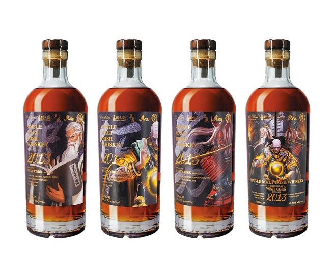 台灣五大品牌聯合包桶,推出君子之道限量作品。(銀盤提供)飲酒過量 有礙健康