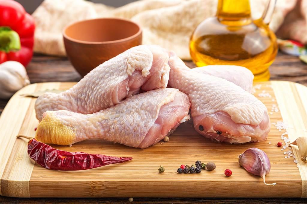民眾逛賣場發現生雞腿大打折,平均一隻腿約7元,直呼價格有點嚇人。(示意圖/Shutterstock)
