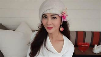 陳美鳳緊身白衣透深色bra 胸前形狀全露64歲身材絕了