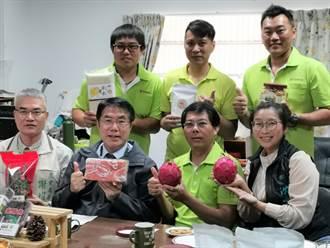 東山青農自組蔬果聯盟促產銷 黃偉哲體驗剝龍眼肉