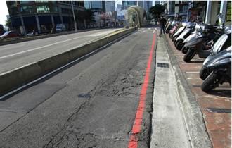 機車族注意!台灣大道2段機慢車道30日起全路段封閉燙平