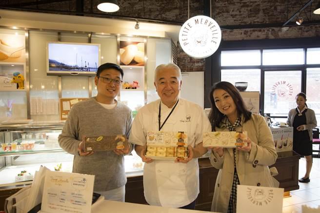 賴信志(左)與呂美玉(右)介紹日本社長以職人的精神製作出幸福的甜點。(翻攝照片/林郁平台北傳真)