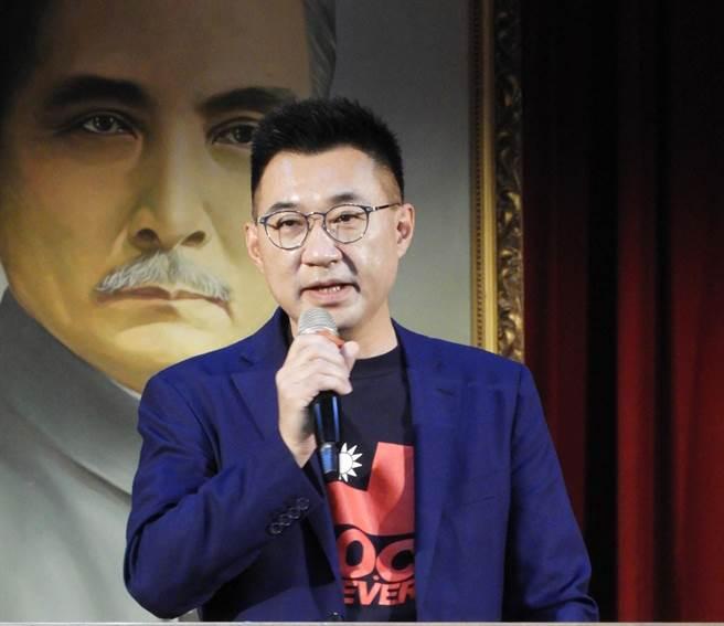 國民黨主席江啟臣說,國民黨了解民眾所認為的國家利益是人民的健康,沒有健康也沒有國家利益。(陳世宗攝)