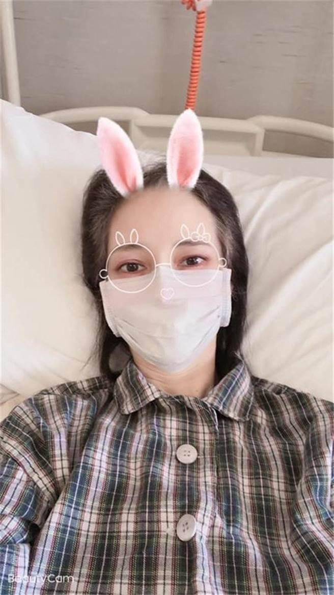 鄭艷麗曾因嚴重厭食症被送往加護病房觀察 (圖/ 鄭艷麗臉書)
