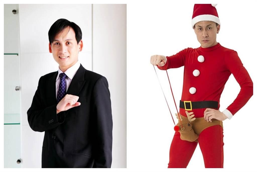 葉元之(左)和內褲男模(右)。(圖片摘自葉元之臉書和日本Amazon網站)